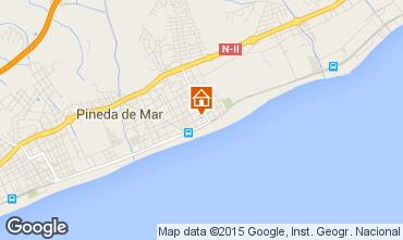Mapa Pineda de Mar Apartamentos 97969