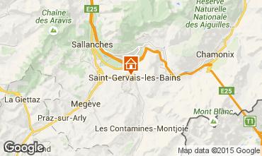 Mapa Saint Gervais Mont-Blanc Apartamentos 2553