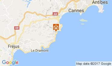 Mapa Théoule sur Mer Apartamentos 107934