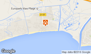 Mapa Vias Praia Mobil Home 74240