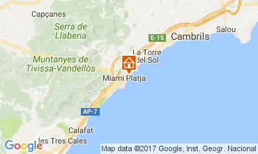 Mapa Miami Playa Apartamentos 75548