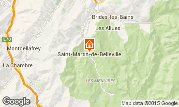 Mapa Saint Martin de Belleville Chalé 2650