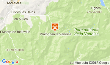 Mapa Pralognan la Vanoise Apartamentos 52387