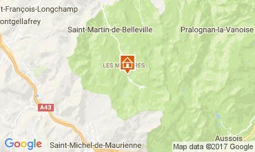 Mapa Les Menuires Chal� 101006
