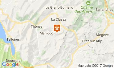 Mapa Manigod-Croix Fry/L'étale-Merdassier Apartamentos 82225
