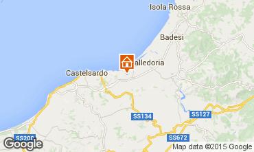 Mapa Valledoria Apartamentos 95541