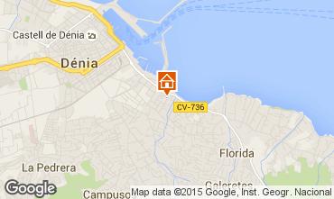 Mapa Dénia Apartamentos 68366