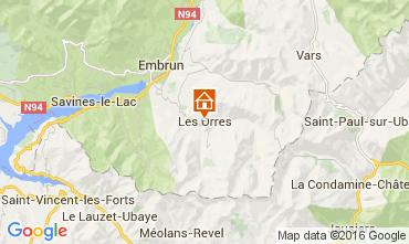 Mapa Les Orres Est�dio 105936