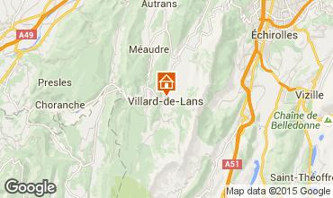 Mapa Villard de Lans - Corren�on en Vercors Apartamentos 32977