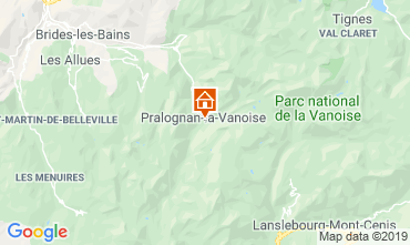 Mapa Pralognan la Vanoise Apartamentos 2280