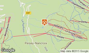 Mapa Peisey-Vallandry Est�dio 40006