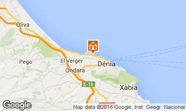 Mapa Dénia Apartamentos 42991