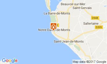 Mapa Notre Dame de Monts Casa 9440
