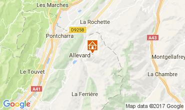 Mapa Le Collet d'Allevard Apartamentos 112005