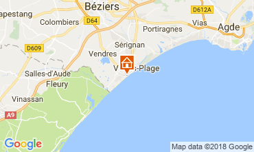Mapa Valras-Praia Apartamentos 83377