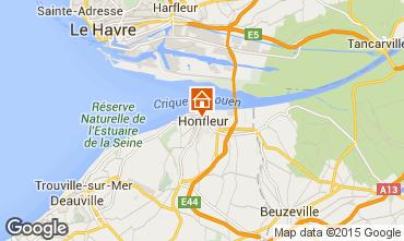 Mapa Honfleur Apartamentos 7650