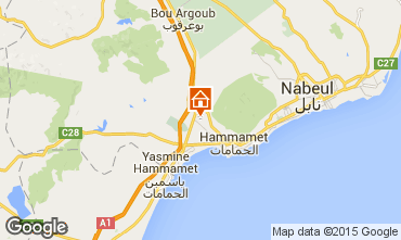 Mapa Hammamet Vivenda 92356