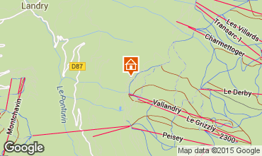 Mapa Peisey-Vallandry Chal� 74279