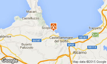 Mapa Scopello Apartamentos 76816