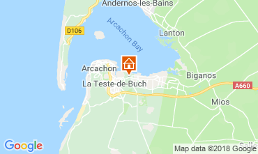 Mapa Arcachon Casa 110612