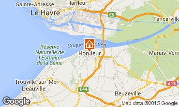 Mapa Honfleur Apartamentos 98058