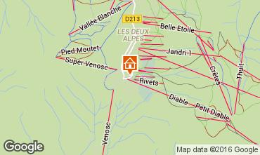 Mapa Les 2 Alpes Apartamentos 73704