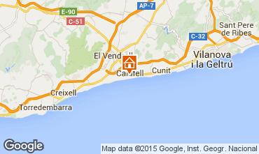 Mapa Calafell Apartamentos 51755