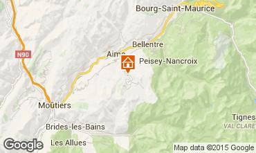 Mapa La Plagne Chalé 2148