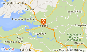 Mapa Crozon Casa de turismo rural/Casa de campo 102663