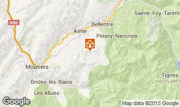 Mapa La Plagne Chalé 56090