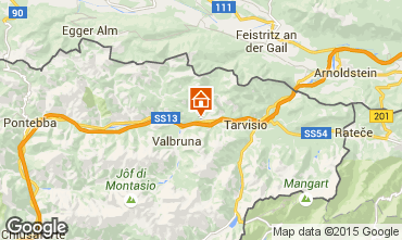 Mapa Tarvisio Apartamentos 61438