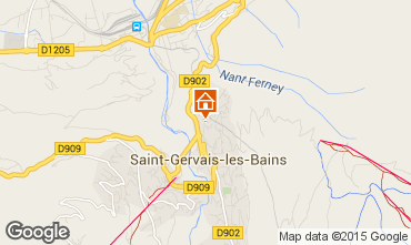 Mapa Saint Gervais Mont-Blanc Apartamentos 2626