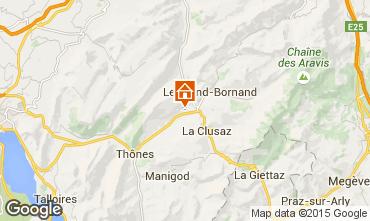 Mapa La Clusaz Chalé 92319