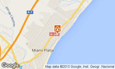 Mapa Miami Playa Apartamentos 81831
