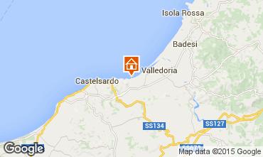 Mapa Valledoria Apartamentos 68457
