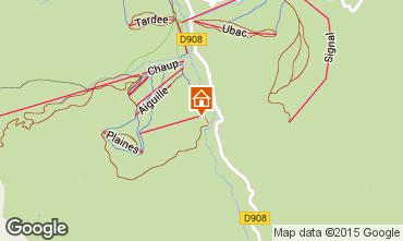 Mapa La Foux d'Allos Est�dio 91828