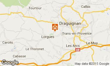 Mapa Lorgues Casa de turismo rural/Casa de campo 92968