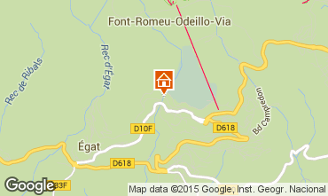 Mapa Font Romeu Apartamentos 70530