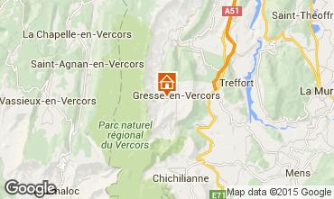 Mapa Gresse en Vercors Casa de turismo rural/Casa de campo 66151