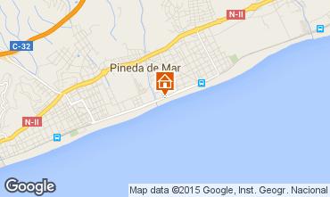 Mapa Pineda de Mar Apartamentos 97989