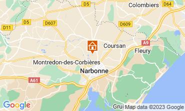 Mapa Narbonne Casa de turismo rural/Casa de campo 94627