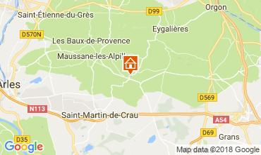 Mapa Les Baux de Provence Casa de turismo rural/Casa de campo 113913