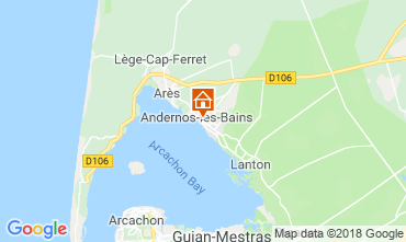 Mapa Andernos les Bains Casa de turismo rural/Casa de campo 116644