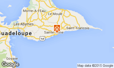 Mapa Sainte Anne (Guadalupe) Bungalow 8026