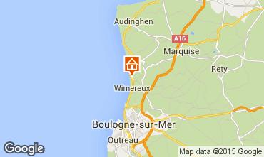 Mapa Wimereux Casa de turismo rural/Casa de campo 93108
