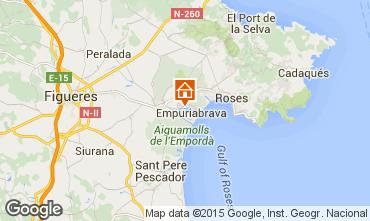 Mapa Empuriabrava Apartamentos 90414