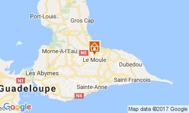 Mapa Le Moule Apartamentos 111679