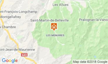 Mapa Les Menuires Chalé 116653