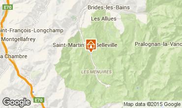 Mapa Saint Martin de Belleville Chalé 2665
