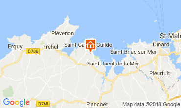 Mapa Saint Cast Le Guildo Casa 113632
